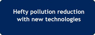 Hefty pollution reduction with new technologies